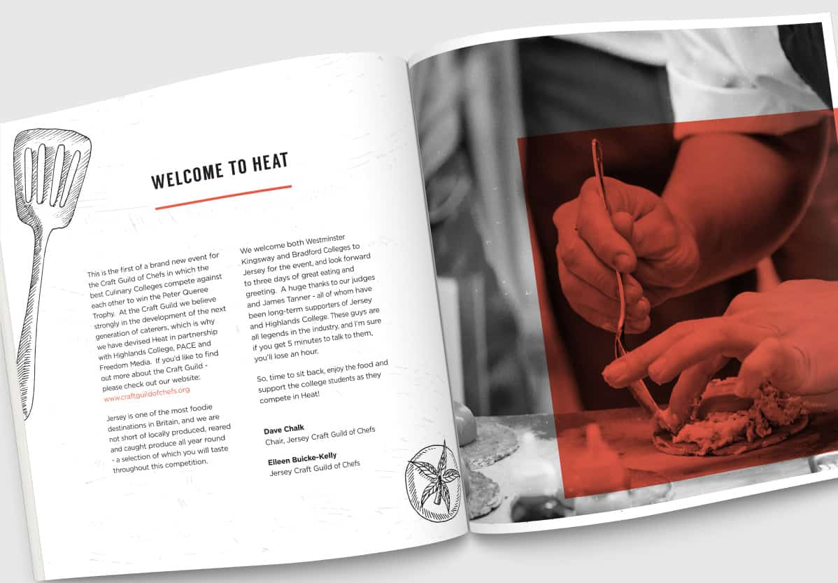 Heat Culinary Colleges Competition Brochure Spread 1